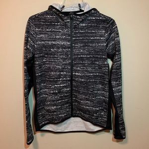 Nike Therma-Fit Black and White Hoodie Medium